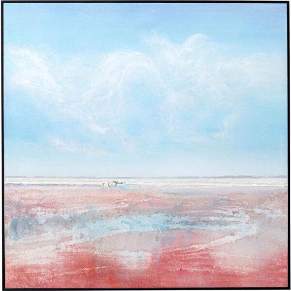 Kare Design Schilderij Framed Red Sea 100x100cm schilderij 52964 - Lowik Meubelen