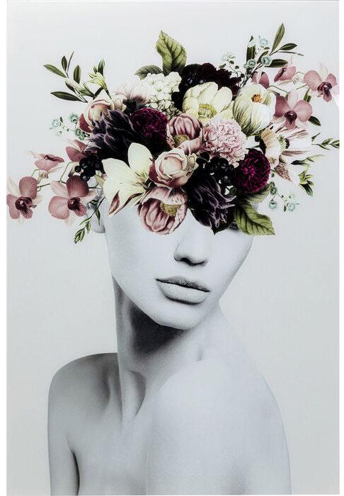 Kare Design Schilderij Glas Autumn Hair 80x120 schilderij 53074 - Lowik Meubelen