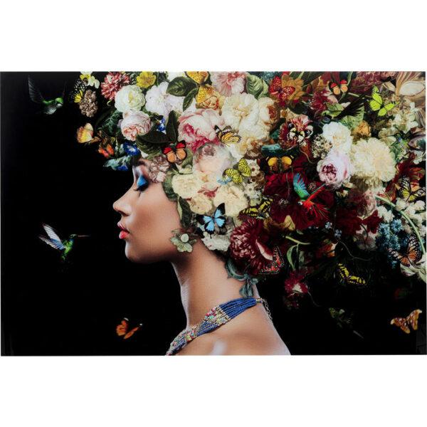 Kare Design Schilderij Glas Bunch of Flowers 150x100 schilderij 53077 - Lowik Meubelen