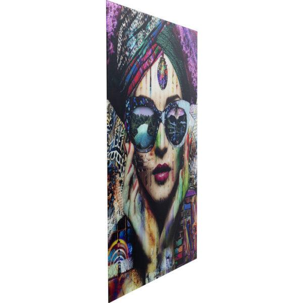 Kare Design Schilderij Glas Colorful Artist 80x120 schilderij 53058 - Lowik Meubelen