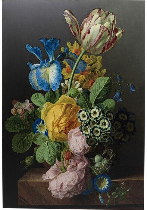 Kare Design Schilderij Glas Flowers Harmony 100x150 schilderij 52602 - Lowik Meubelen