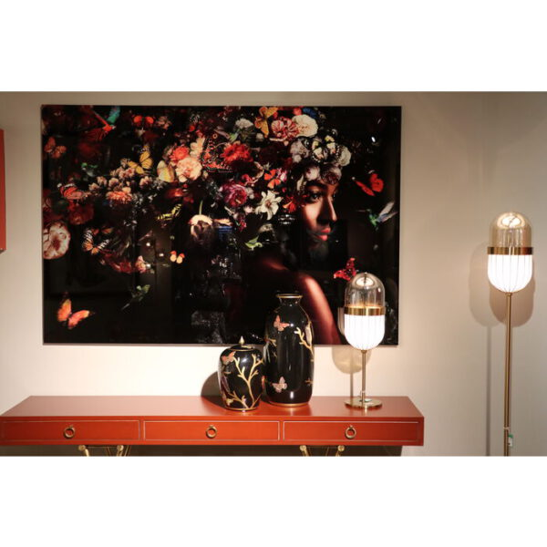 Kare Design Schilderij Glas Flowery Shoulder View 150x100 schilderij 53076 - Lowik Meubelen