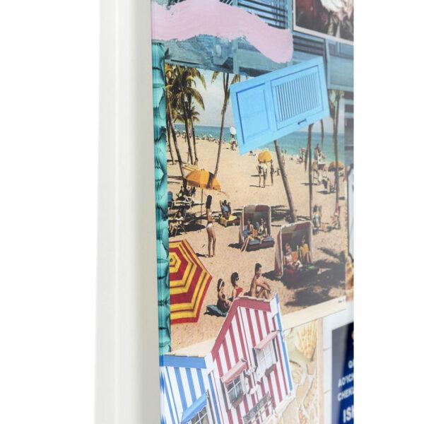 Kare Design Schilderij Glas Holiday in the 60s 120x150 schilderij 53059 - Lowik Meubelen