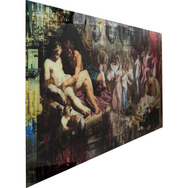Kare Design Schilderij Glas Rock n Roll 180x90 schilderij 53090 - Lowik Meubelen