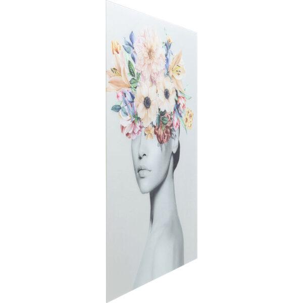 Kare Design Schilderij Glas Spring Hair 80x120 schilderij 53073 - Lowik Meubelen
