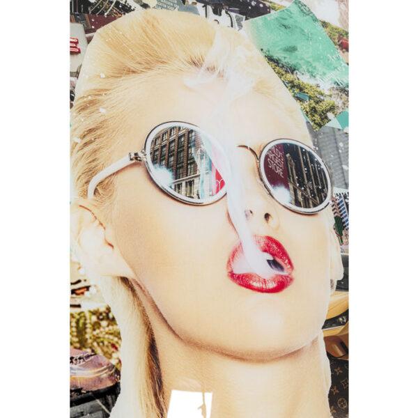 Kare Design Schilderij Glas Trendy Shopper 120x150 schilderij 53057 - Lowik Meubelen