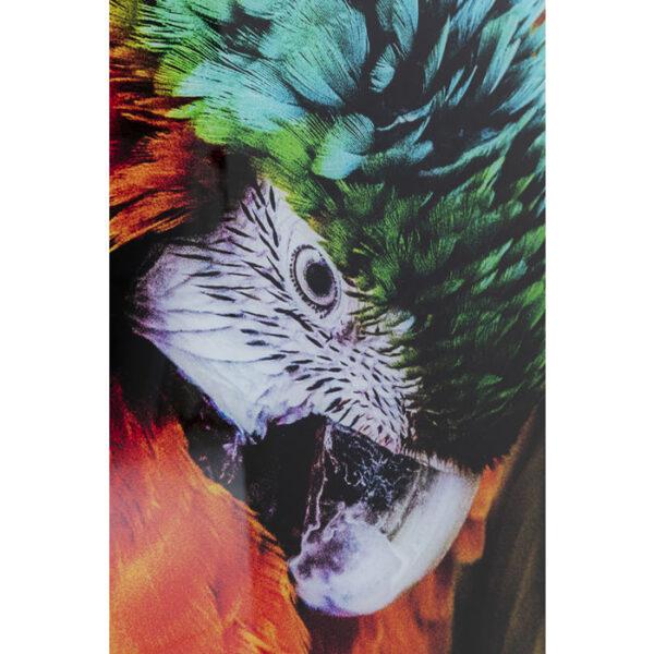 Kare Design Schilderij Glas Tropical Parrot 120x80 schilderij 53089 - Lowik Meubelen