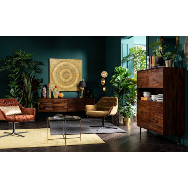 Kare Design Schilderij Object Art Circle Gold 120x120cm schilderij 52766 - Lowik Meubelen