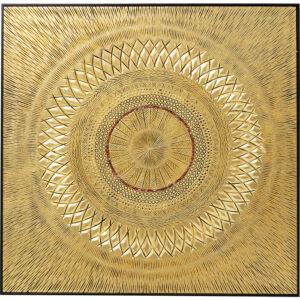Kare Design Schilderij Object Art Geometric Circle Gold 120x120cm schilderij 52767 - Lowik Meubelen