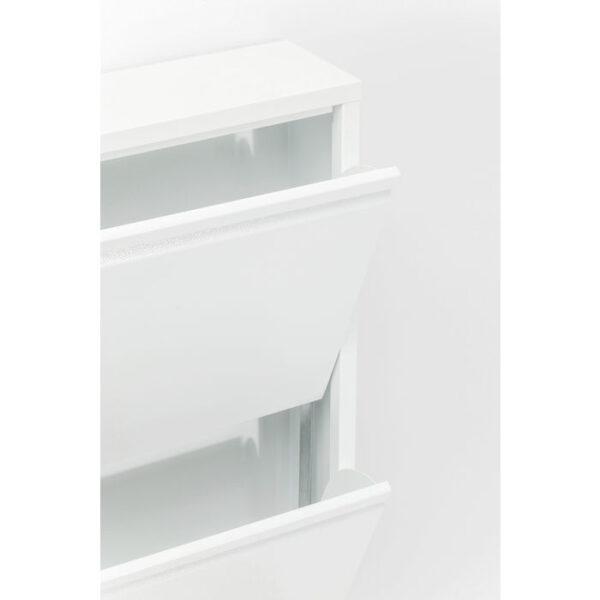 Kare Design Schoenenkast Caruso 3 White - (MO) schoenenkast 49287 - Lowik Meubelen