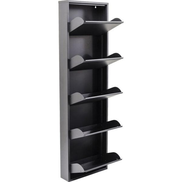 Kare Design Schoenenkast Caruso 5 Anthrazit - (MO) schoenenkast 42568 - Lowik Meubelen