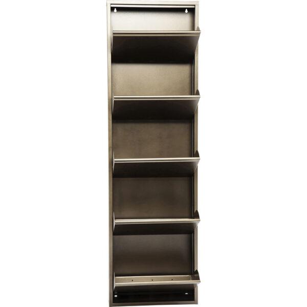 Kare Design Schoenenkast Caruso 5 Bronze - (MO) schoenenkast 42561 - Lowik Meubelen