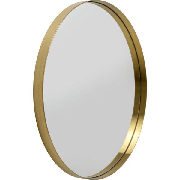 Kare Design Spiegel Curve Brass - Ø80 spiegel 85425 - Lowik Meubelen