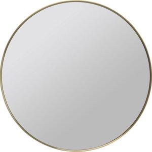 Kare Design Spiegel Curve MO Brass - Ø80 spiegel 85359 - Lowik Meubelen