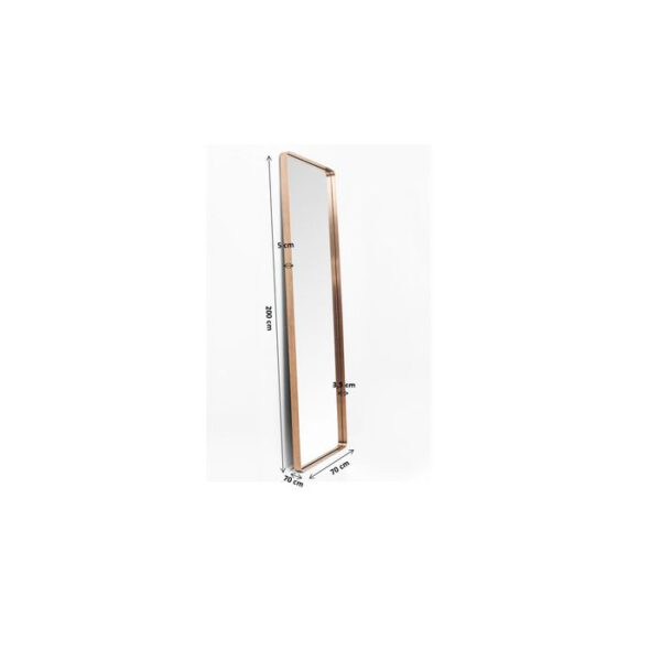 Kare Design Spiegel Curve MO Copper 200x70 spiegel 85276 - Lowik Meubelen