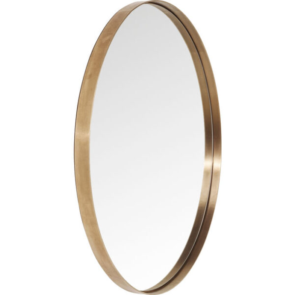 Kare Design Spiegel Curve MO Copper - Ø100 spiegel 85277 - Lowik Meubelen