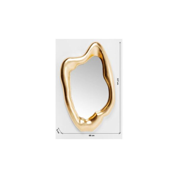 Kare Design Spiegel Hologram Gold 117x68cm spiegel 83207 - Lowik Meubelen