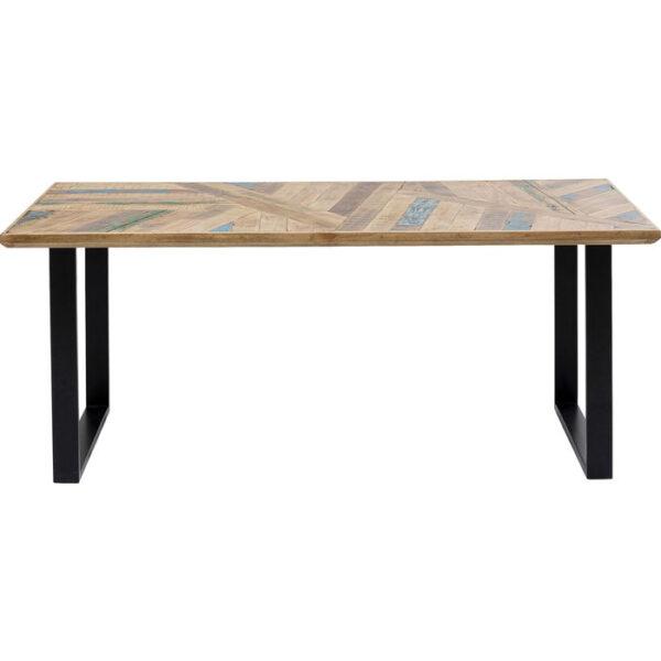 Kare Design Tafel Abstract Black 180x90 eetkamertafel 85242 - Lowik Meubelen