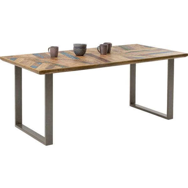 Kare Design Tafel Abstract Silver 180x90 eetkamertafel 85234 - Lowik Meubelen