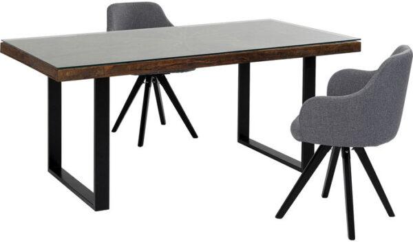 Kare Design Tafel Conley Black 180x90 eetkamertafel 84934 - Lowik Meubelen