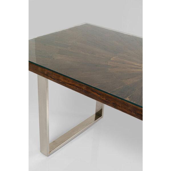 Kare Design Tafel Conley Chrome 180x90 eetkamertafel 84935 - Lowik Meubelen