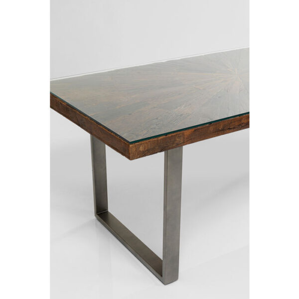 Kare Design Tafel Conley Crude Steel 180x90 eetkamertafel 84932 - Lowik Meubelen