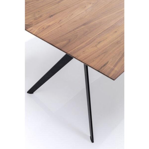 Kare Design Tafel Downtown Walnut 220x100cm eetkamertafel 85628 - Lowik Meubelen