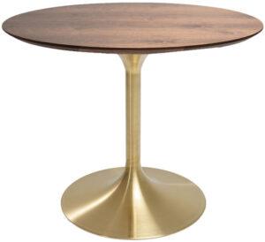 Kare Design Tafel Invitation Set Walnut Brass - Ø90cm eetkamertafel 85957 - Lowik Meubelen
