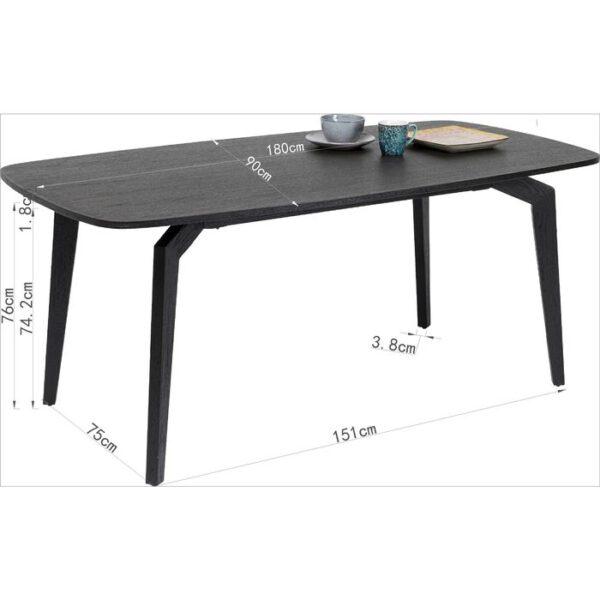 Kare Design Tafel Milano 180x90 eetkamertafel 85331 - Lowik Meubelen