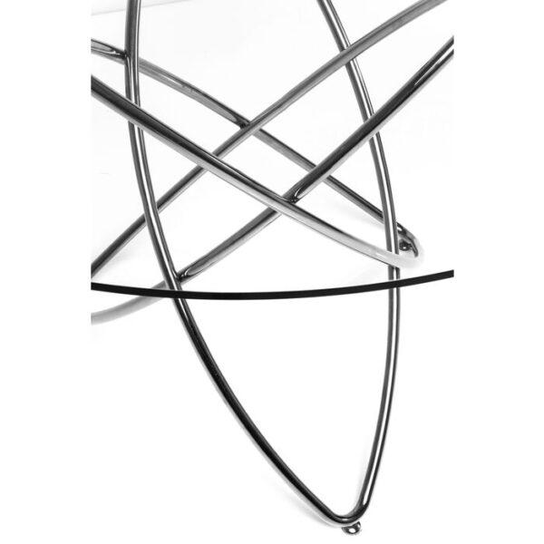 Kare Design Tafel Molekular Silver - Ø120cm eetkamertafel 76505 - Lowik Meubelen