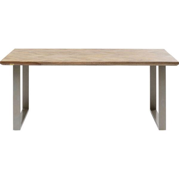 Kare Design Tafel Parquet Silver 180x90 eetkamertafel 85235 - Lowik Meubelen