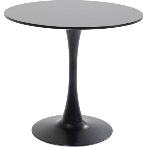 Kare Design Tafel Schickeria Black - Ø80 eetkamertafel 85502 - Lowik Meubelen