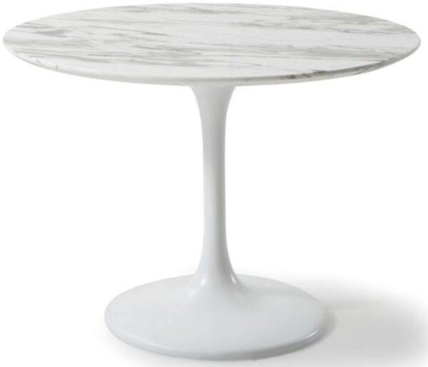 Kare Design Tafel Solo Marble White - Ø110cm eetkamertafel 85649 - Lowik Meubelen