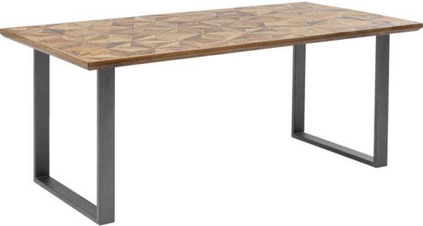 Kare Design Tafel Stars Crude Steel 180x90 eetkamertafel 85247 - Lowik Meubelen
