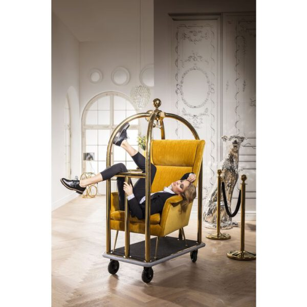 Kare Design VIP Baggage Trolley Vegas Gold woonaccessoire 81752 - Lowik Meubelen