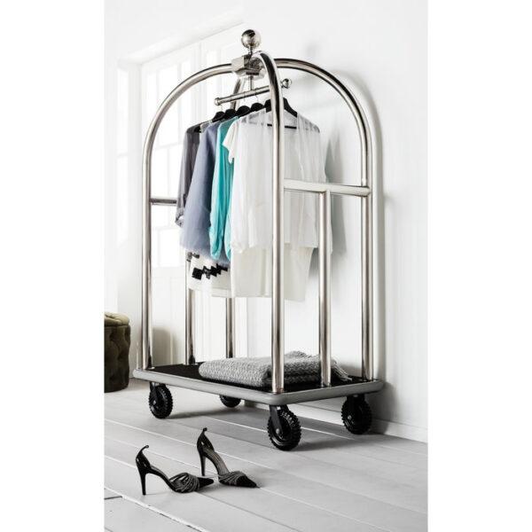 Kare Design VIP Baggage Trolley Vegas Silver woonaccessoire 76652 - Lowik Meubelen