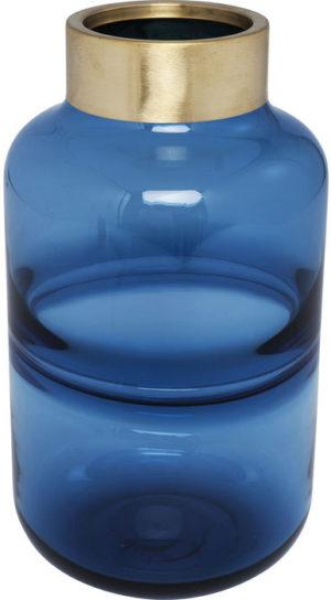 Kare Design Vaas Positano Belly Blue 28cm vaas 61780 - Lowik Meubelen