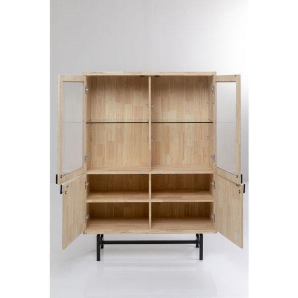 Kare Design Vitrinekast Copenhagen 100x150cm vitrinekast 85790 - Lowik Meubelen
