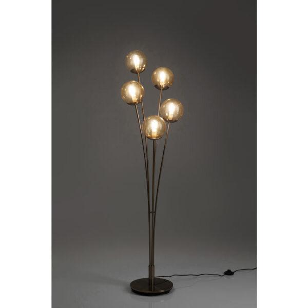 Kare Design Vloerlamp Five Balls Amber Brass vloerlamp 52680 - Lowik Meubelen