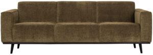 Statement 3-zitsbank 230 Cm Brede Platte Rib - Rock uit de Banken collectie van BePureHome bij Löwik Meubelen