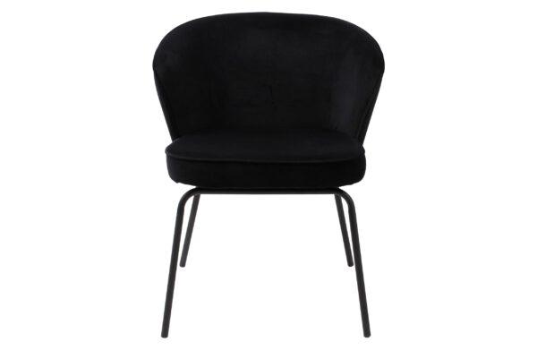 Admit Eetkamerstoel - Fluweel Zwart uit de BePureHome collectie