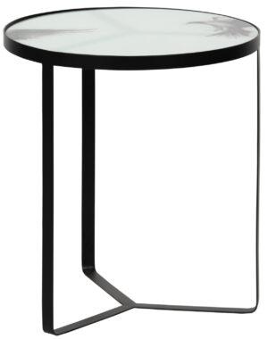 Fly Bijzettafel Metaal/glas Zwart 50xØ45 uit de Tafels collectie van BePureHome bij Löwik Meubelen