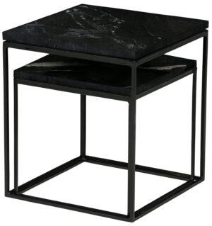 Set/2 - Mellow Bijzettafels Marmer Zwart uit de Tafels collectie van BePureHome bij Löwik Meubelen