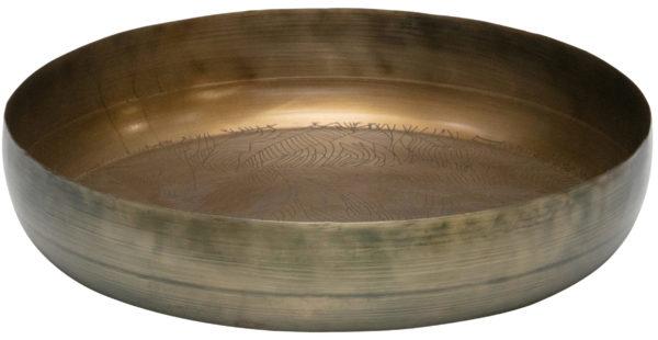 Notch Dienblad Metaal - Antique Brass Ø31cm uit de Accessoires collectie van BePureHome bij Löwik Meubelen