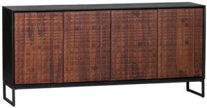 Nuts Dressoir Hout - Walnoot/zwart uit de Opbergen collectie van BePureHome bij Löwik Meubelen