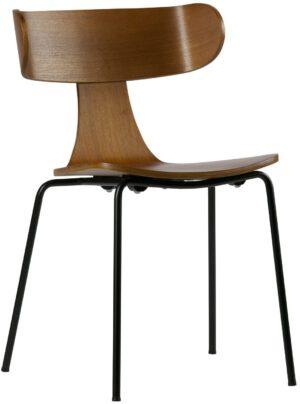 Form Houten Stoel - Metalen Poot - Bruin uit de BePureHome collectie
