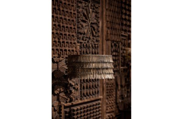 Hawaii Hanglamp Rond Metaal - Antique Brass uit de Lampen collectie van BePureHome bij Löwik Meubelen