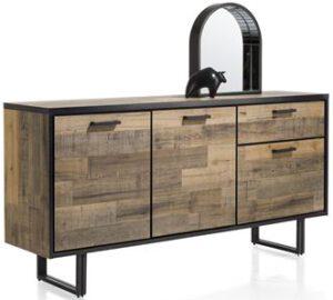 Henders & Hazel Avalon dressoir 170 cm. - 3-deuren + 1-lade - driftwood  Dressoir