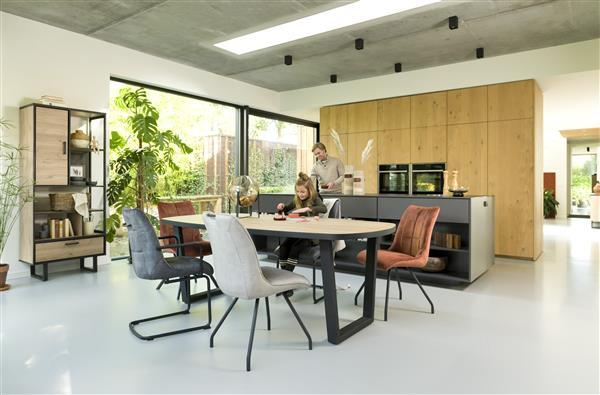 Henders & Hazel Avalon hang- en staand mogelijk - element 45 cm. - 1-glasdeur +1-niche (+ LED) - driftwood  Woonaccessoire