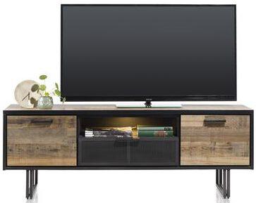 Henders & Hazel Avalon lowboard 180 cm. - 2-deuren + 1-lade + 1-niche (+ LED) - driftwood  Dressoir